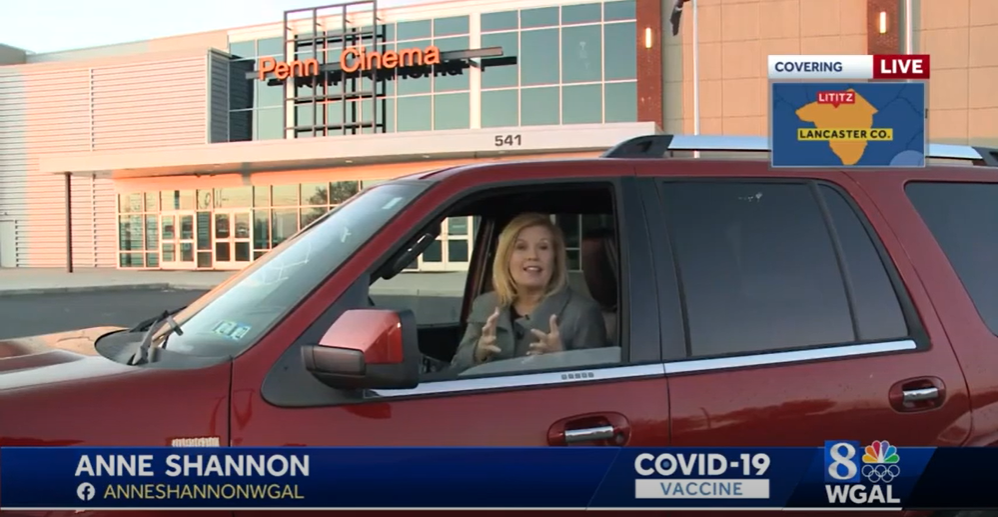 Read more about the article Drive-thru vaccine clinic running this weekend at Penn Cinema